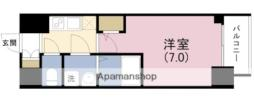 阪神本線 姫島駅 徒歩7分の賃貸マンション 12階1Kの間取り