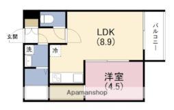 阪神本線 姫島駅 徒歩5分の賃貸アパート 3階1LDKの間取り