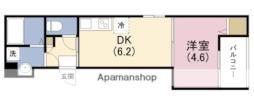 阪神なんば線 出来島駅 徒歩8分の賃貸アパート 3階1DKの間取り