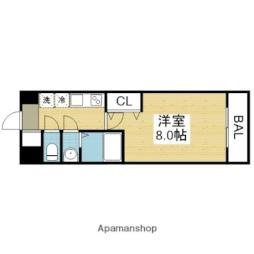 Osaka Metro千日前線 今里駅 徒歩9分の賃貸マンション 10階1Kの間取り