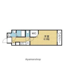 JPレジデンス大阪城東4 4階1Kの間取り