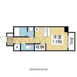 Osaka Metro千日前線 今里駅 徒歩6分の賃貸マンション 2階ワンルームの間取り