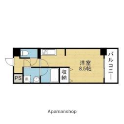 Osaka Metro千日前線 今里駅 徒歩5分の賃貸マンション 12階1Kの間取り
