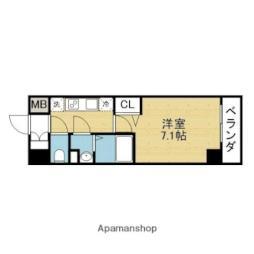 Osaka Metro千日前線 新深江駅 徒歩2分の賃貸マンション 6階1Kの間取り