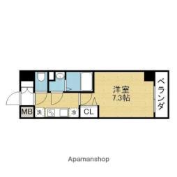 Osaka Metro千日前線 新深江駅 徒歩2分の賃貸マンション 5階1Kの間取り