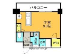 JR東海道・山陽本線 甲子園口駅 徒歩3分の賃貸マンション 5階ワンルームの間取り