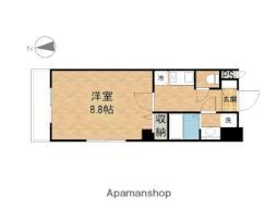 JR山陽本線 岡山駅 徒歩12分の賃貸マンション 8階1Kの間取り