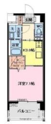 カタリナアパートメント 4階1Kの間取り