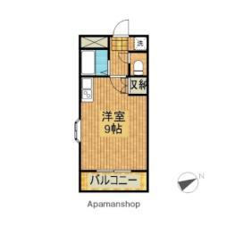 JR日豊本線 清武駅 徒歩5分の賃貸マンション 6階ワンルームの間取り