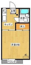 JR日豊本線 清武駅 徒歩7分の賃貸アパート 2階1Kの間取り