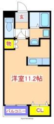 JR日豊本線 国分駅 徒歩20分の賃貸アパート 2階ワンルームの間取り