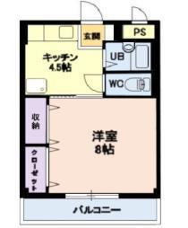 しなの鉄道北しなの 北長野駅 徒歩25分の賃貸アパート 1階1Kの間取り